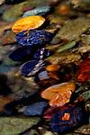 Rocks laying on bottom of Twisp River, near Twisp in the Okanogan valley, Washington