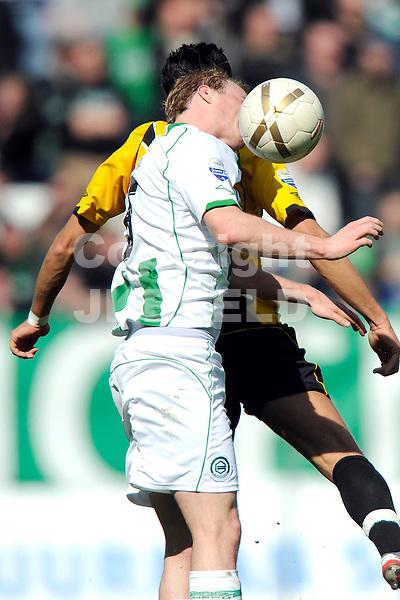 voetbal fc groningen - nac erediivisie seizoen 2007-2008 06-04-2008 .stenman hapt in de bal.fotograaf Jan Kanning