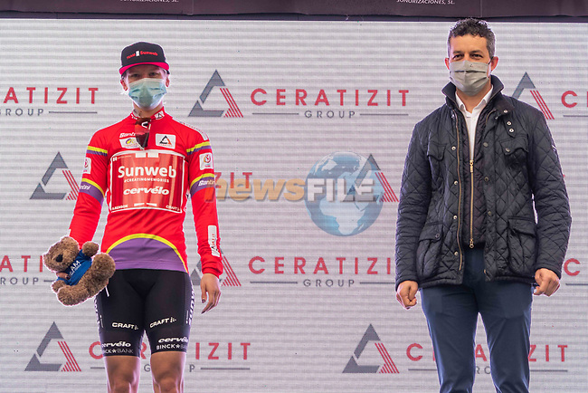 Lorena Wiebes (NED) Team Sunweb wins Stage 1 and wears the first leaders jersey of the CERATIZIT Challenge by La Vuelta 2020, running 82.8km from Toledo to Escalona, Spain. 6th November 2020.<br /> Picture: Antonio Baixauli López/BaixauliStudio | Cyclefile<br /> <br /> All photos usage must carry mandatory copyright credit (© Cyclefile | Antonio Baixauli López/BaixauliStudio)