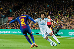 Marcelo Vieira Da Silva (R) of Real Madrid vies for the ball with Nelson Cabral Semedo of FC Barcelona during the La Liga 2017-18 match between FC Barcelona and Real Madrid at Camp Nou on May 06 2018 in Barcelona, Spain. Photo by Vicens Gimenez / Power Sport Images