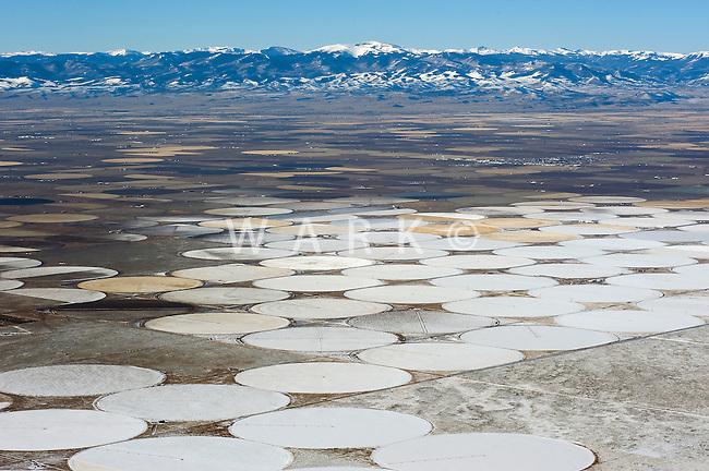 San Luis Valley, winter crop circles.  Oct 2009