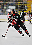 27 January 2012: Northeastern University Huskies' forward Ludwig Karlsson, a Freshman from Stockholm, Sweden, in action against the University of Vermont Catamounts at Gutterson Fieldhouse in Burlington, Vermont. The Huskies defeated the Catamounts 8-3 in the first game of their 2-game Hockey East weekend series. Mandatory Credit: Ed Wolfstein Photo