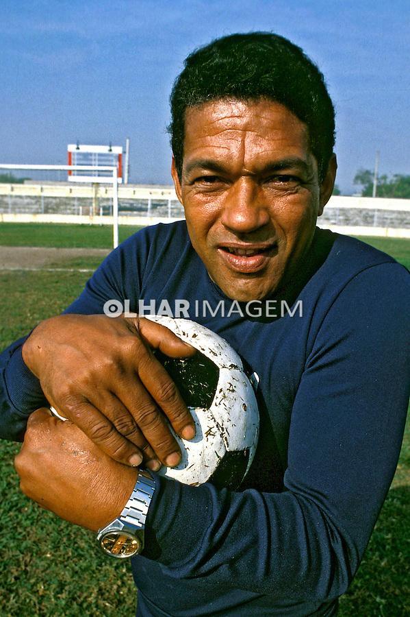 Pessoa. Personalidade. Mané Garrincha, jogador de futebol. RJ. 1980. Foto de Ricardo Azoury.