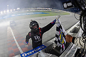 #16: Brett Moffitt, Hattori Racing Enterprises, Toyota Tundra celebrates after winning