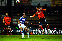 21st April 2021; Kenilworth Road, Luton, Bedfordshire, England; English Football League Championship Football, Luton Town versus Reading; Ryan Tunnicliffe of Luton Town with a header to clear his line