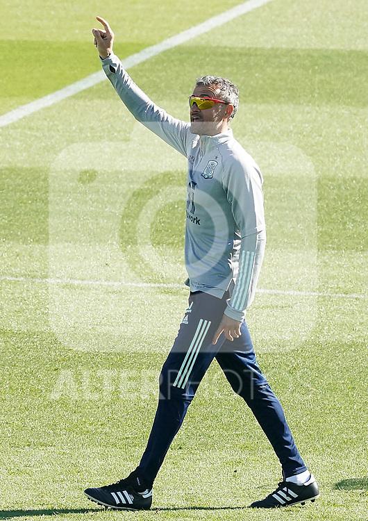 Spain's coach Luis Enrique Martinez during training session. October 6,2020.(ALTERPHOTOS/Acero)
