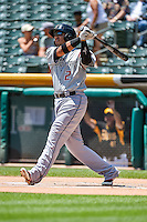 Cristhian Adames (2) of the Albuquerque Isotopes at bat against the Salt Lake Bees in Pacific Coast League action at Smith's Ballpark on June 28, 2015 in Salt Lake City, Utah. The Isotopes defeated the Bees 8-3. (Stephen Smith/Four Seam Images)