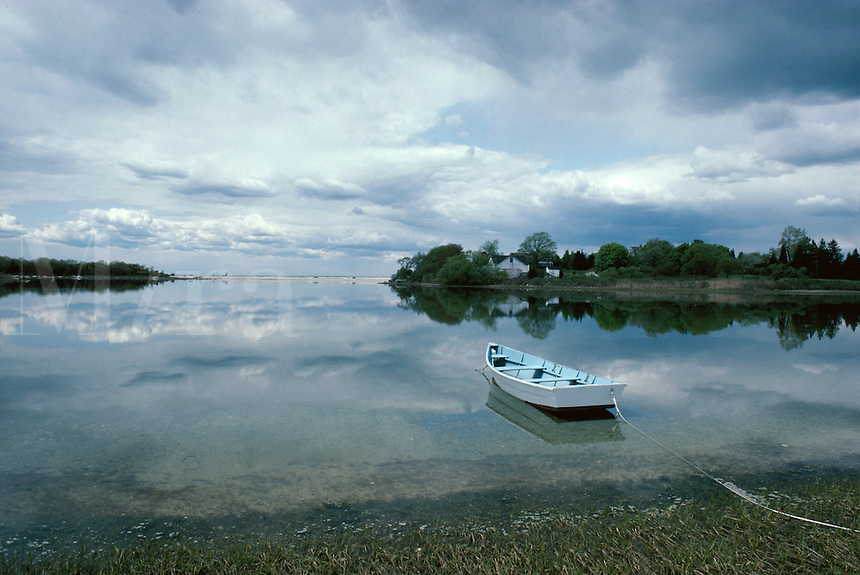 Rowboat on pond Long Island NY
