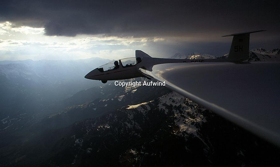 Segelflug, ASK 21, Berge, Barcelonnette,