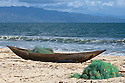 Fisherman's dugout canoe, Antongil Bay, Northeast Madagascar.