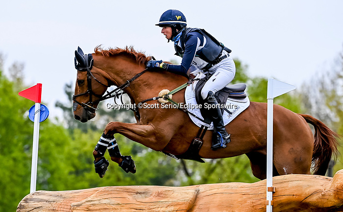 April 24, 2021: Jennifer Brannigan competes in the Cross Country phase of the Land Rover 5* 3-Day Event aboard Fe Lifestyle at the Kentucky Horse Park in Lexington, Kentucky. Scott Serio/Eclipse Sportswire/CSM
