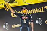 Mathieu Van Der Poel (NED) Alpecin-Fenix wins Stage 2 of the 2021 Tour de France, running 183.5km from Perros-Guirec to Mur-de-Bretagne Guerledan, France. 27th June 2021.  <br /> Picture: A.S.O./Charly Lopez   Cyclefile<br /> <br /> All photos usage must carry mandatory copyright credit (© Cyclefile   A.S.O./Charly Lopez)
