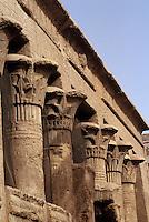 Afrique/Egypte/Esna: Les ruines du temple de Khnoum (dieu bélier)