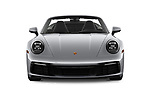 Car photography straight front view of a 2021 Porsche 911 Carrera 2 Door Convertible Front View