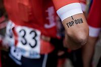 Eugenio Alafaci (ITA/Trek Segafredo) tattoo<br /> <br /> 103th Kampioenschap van Vlaanderen 2018 (UCI 1.1)<br /> Koolskamp – Koolskamp (186km)