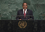 72 General Debate – 25th of September  2017<br /> <br /> H.E. Antonio GUMANDE<br /> <br /> Chair of Delegation of MOZAMBIQUE