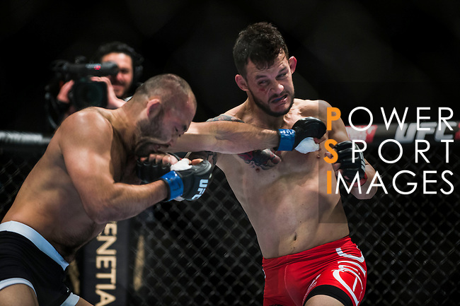Alberto Mina of Brazil vs Shinsho Anzai of Japan  during their welterweight bout fight as part of the UFC Fight Night Macao on August 23, 2014 at the Venetian in Macao, China. Photo by Victor Fraile / Power Sport Images