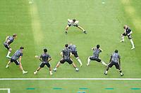 Deutsche Mannschaft waermt sich auf<br /> - Muenchen 19.06.2021: Deutschland vs. Portugal, Allianz Arena Muenchen, Euro2020, emonline, emspor, <br /> <br /> Foto: Marc Schueler/Sportpics.de<br /> Nur für journalistische Zwecke. Only for editorial use. (DFL/DFB REGULATIONS PROHIBIT ANY USE OF PHOTOGRAPHS as IMAGE SEQUENCES and/or QUASI-VIDEO)
