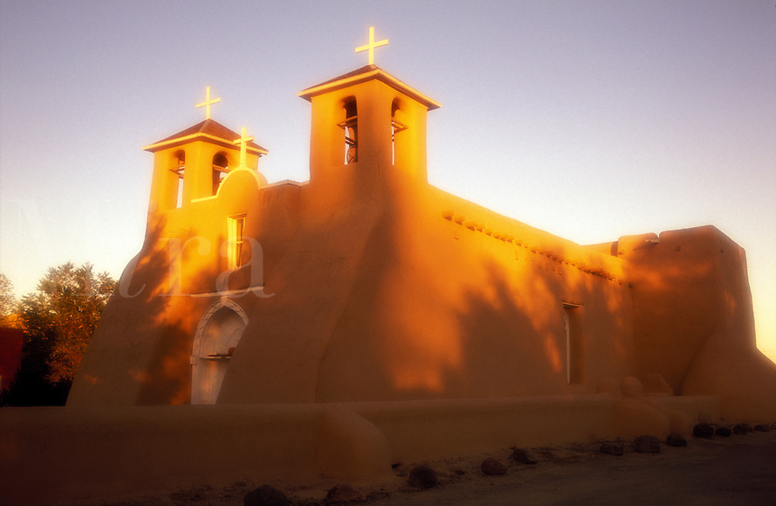 USA, New Mexico, Ranchos de Taos. Church of Saint francis of Assisi 1730