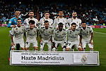 Real Madrid's team photo with Keylor Navas, Sergio Ramos, Nacho Fernandez, Karim Benzema, Carlos Henrique Casemiro, Federico Valverde, Lucas Vazquez, Alvaro Odriozola, Sergio Reguilon, Dani Ceballos and Vinicius Jr. during Copa Del Rey match between Real Madrid and CD Leganes at Santiago Bernabeu Stadium in Madrid, Spain. January 09, 2019. (ALTERPHOTOS/A. Perez Meca)