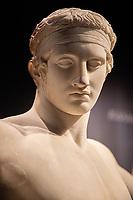 testa di diadoumenos, museo archeologico di Atene