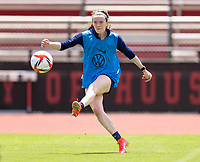 HOUSTON, TX - JUNE 8: Rose Lavelle #16 of the USWNT takes a shot during a training session at the University of Houston on June 8, 2021 in Houston, Texas.