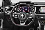Car pictures of steering wheel view of a 2018 Volkswagen Polo GTI 5 Door Hatchback