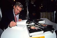 Montreal (QC) CANADA, undated   File Photo -<br /> Conrad Black sign copies of  autobiography