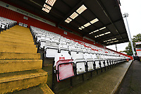 General view of the Lamex Stadium Empty Stadiums EFL Games  during Stevenage vs Salford City, Sky Bet EFL League 2 Football at the Lamex Stadium on 3rd October 2020