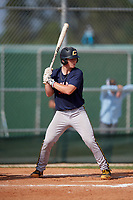 James Triantos (7) during the WWBA World Championship at Terry Park on October 8, 2020 in Fort Myers, Florida.  James Triantos, a resident of McLean, Virginia who attends Madison High School, is committed to North Carolina.  (Mike Janes/Four Seam Images)