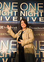 At Sunnybrook Health Sciences Centre today, singer-songwriter Jann Arden announces One Night Live(TM) taking place on February 28, 2008. The fundraising concert featuring Bryan Adams, Josh Groban, Sarah McLachlan and Jann Arden will benefit Sunnybrook's Women & Babies Program. For more information, visit www.onenightlive.ca. (CNW Group/Sunnybrook Foundation)