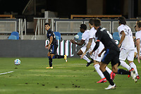 SAN JOSE, CA - OCTOBER 28: Nick Lima #24 of the San Jose Earthquakes looks to pass during a game between Real Salt Lake and San Jose Earthquakes at Earthquakes Stadium on October 28, 2020 in San Jose, California.