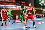 44Kevin Gulliksen, n03Nils Torbruegge beim Spiel in der Handball Bundesliga, TSV GWD Minden - HSG Nordhorn-Lingen.<br /> <br /> Foto © PIX-Sportfotos *** Foto ist honorarpflichtig! *** Auf Anfrage in hoeherer Qualitaet/Aufloesung. Belegexemplar erbeten. Veroeffentlichung ausschliesslich fuer journalistisch-publizistische Zwecke. For editorial use only.