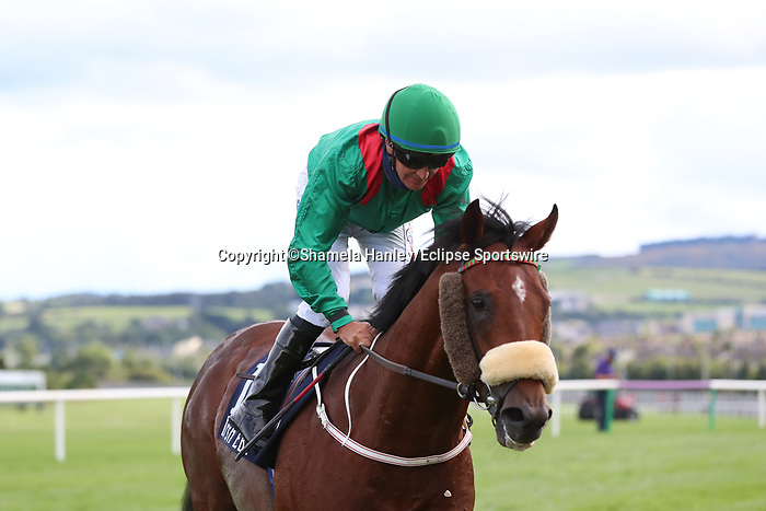 September 11, 2021: Tarnawa (IRE) #2 ridden by jockey Colin Keane before the Group 1 Irish Champion Stakes on the turf on Irish Champions Weekend at Leopardstown Racecourse in Dublin, Ireland on September 11th, 2021. Shamela Hanley/Eclipse Sportswire/CSM