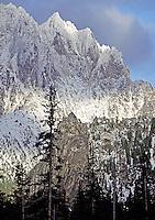 Silver Horn highlighted at Silver Star Mountain, North Cascades Mountain Range, Washington State
