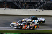 NASCAR Camping World Truck Series<br /> TheHouse.com 225<br /> Chicagoland Speedway, Joliet, IL USA<br /> Friday 15 September 2017<br /> Myatt Snider, Louisiana Hot Sauce Toyota Tundra, Regan Smith, BTS Tire & Wheel / Commercial Tire & Service/Advance Auto Parts/ CarQuest/ Valvoline Ford F150 and Johnny Sauter, ISMConnect Chevrolet Silverado<br /> World Copyright: Russell LaBounty<br /> LAT Images