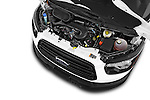Car Stock 2015 Ford Transit 150 Van 2 Door  Engine high angle detail view