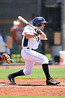 GCL Rays outfielder Chris DeMorais (7) at bat during a game against the GCL Red Sox on June 24, 2014 at Charlotte Sports Park in Port Charlotte, Florida.  GCL Red Sox defeated the GCL Rays 5-3.  (Mike Janes/Four Seam Images)