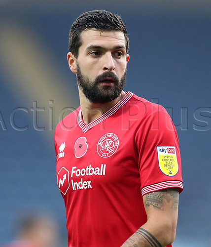 7th November 2020; Ewood Park, Blackburn, Lancashire, England; English Football League Championship Football, Blackburn Rovers versus Queens Park Rangers; Yoann Barbet of Queens Park Rangers wearing a shirt with a Remembrance Day Poppy on the chest