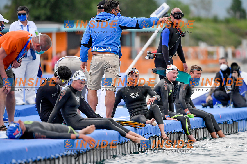 BRUNI Rachele ITA<br /> Team Event 5 km<br /> Open Water<br /> Budapest  - Hungary  15/5/2021<br /> Lupa Lake<br /> XXXV LEN European Aquatic Championships<br /> Photo Andrea Staccioli / Deepbluemedia / Insidefoto