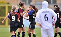 Monfalcone, Italy, April 26, 2016.<br /> USA's players celebrating #20 Yates's goal during USA v Iran football match at Gradisca Tournament of Nations (women's tournament). Monfalcone's stadium.<br /> © ph Simone Ferraro / Isiphotos