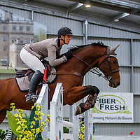 NZL-Brook Edgecombe rides Cassio Xtreme. Class 31: Land Rover Horse 1.20m-1.25m 10K - FINAL. 2021 NZL-Easter Jumping Festival presented by McIntosh Global Equestrian and Equestrian Entries. NEC Taupo. Sunday 4 April. Copyright Photo: Libby Law Photography