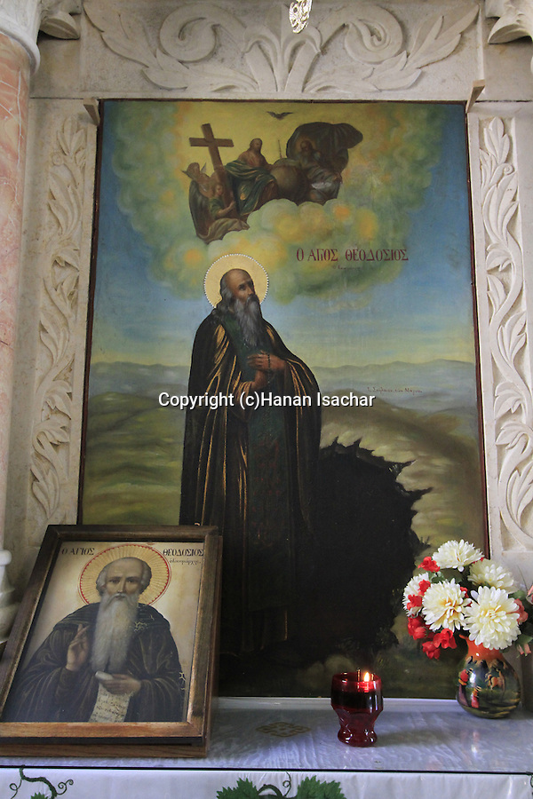 An icon at the Greek Orthodox Monastery of St. Theodosius