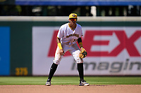 Bradenton Marauders shortstop Dariel Lopez (52) during a game against the Fort Myers Mighty Mussels on May 9, 2021 at LECOM Park in Bradenton, Florida.  (Mike Janes/Four Seam Images)