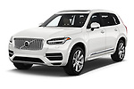 2018 Volvo XC90 T8 Twin Engine Plug-in Inscription 5 Door SUV angular front stock photos of front three quarter view