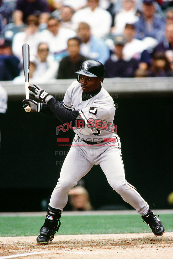 Ray Durham of the Chicago White Sox during a game against the Anaheim Angels at Angel Stadium circa 1999 in Anaheim, California. (Larry Goren/Four Seam Images)