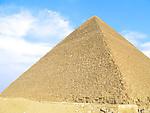 The Great Pyramid of Giza near Cairo, Egypt.