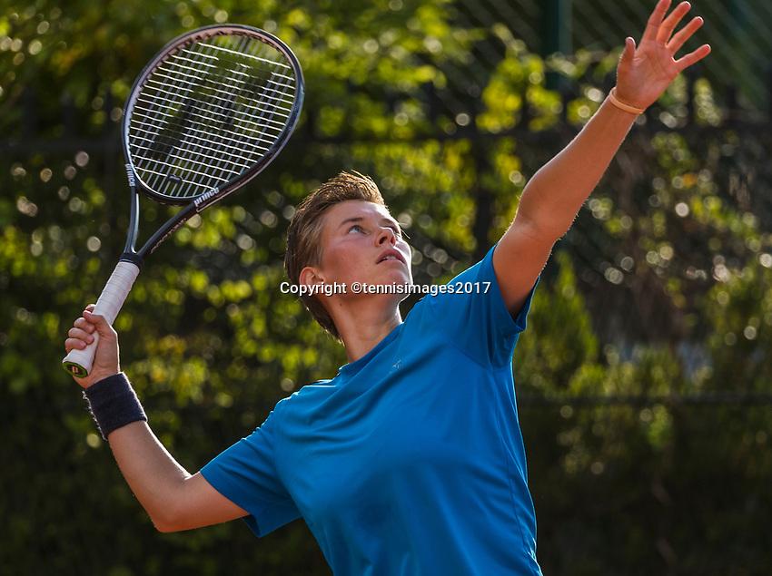 Paris, France, 31 May, 2017, Tennis, French Open, Roland Garros, Women's doubles: Demi Schuurs (NED)<br /> Photo: Henk Koster/tennisimages.com