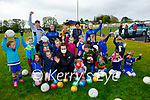 All excited on their return to Ballymac GAA juvenile training on Sunday morning n.