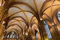 in der Matthias-Kirche, Mátyás templon auf em Burgberg in Buda, Budapest, Ungarn, UNESCO-Weltkulturerbe